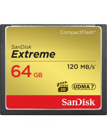 Cartão Compact Flash Sandisk Extreme 64GB - 120MB/s