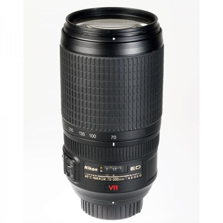 Objetiva Nikon AF-S 70-300mm f4.5-5.6G ED VR - USADA