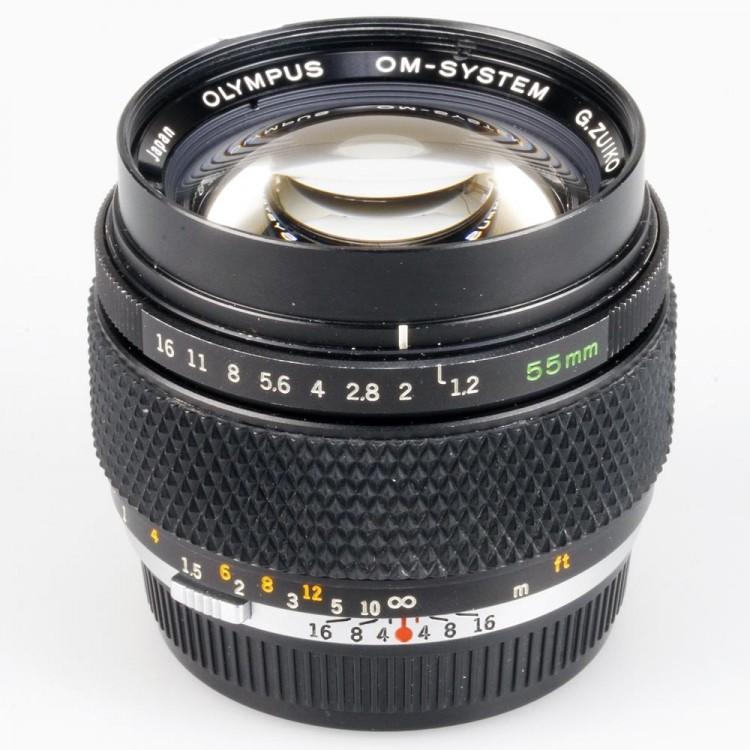 Objetiva Olympus OM-System G. Zuiko Auto-S 55mm f1.2 - USADA
