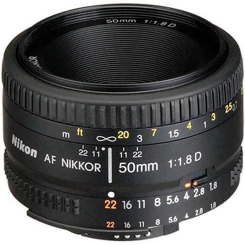 Objetiva Nikon AF 50mm f1.8D FX