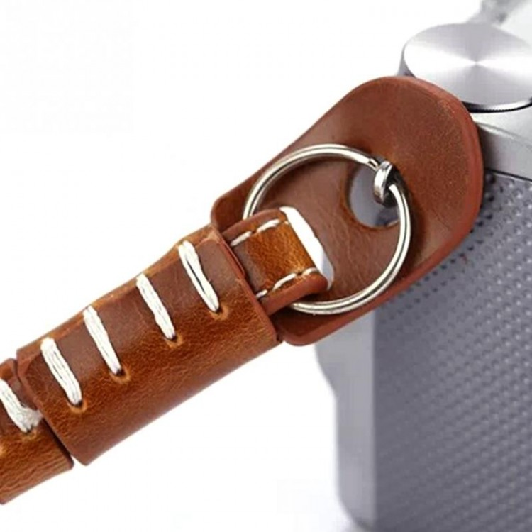 Alça de pulso em poliuretano para câmeras (MARROM)