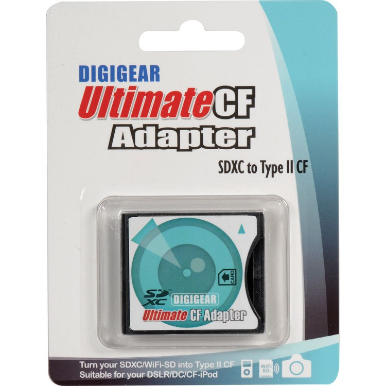 Adaptador de cartão SD para cartão CF Digigear Ultimate