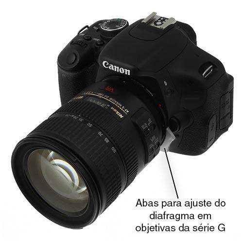 Anel Adaptador Fotodiox - Nikon (G) em Canon EOS