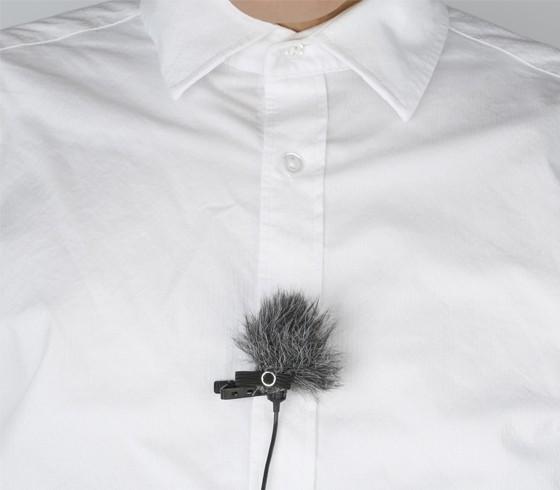 Kit com 3 protetores de vento Boya BY-B05 para microfone de lapela
