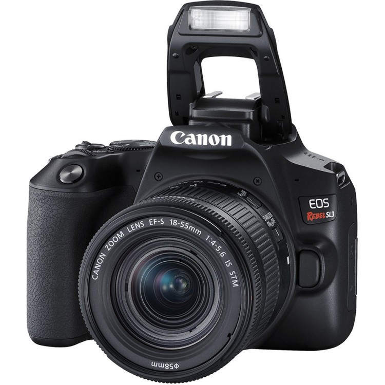Câmera DSLR Canon EOS Rebel SL3 com lente 18-55mm IS STM