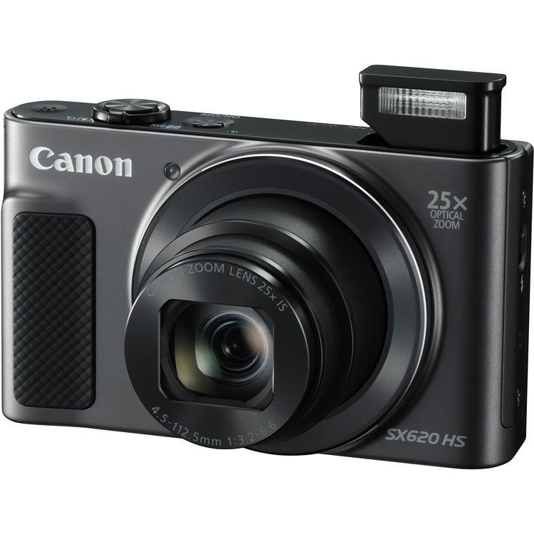 Câmera compacta Canon Powershot SX620 HS com zoom ótico de 25x e WiFi
