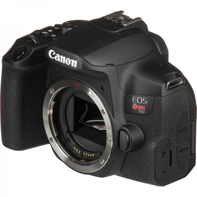 Câmera DSLR Canon EOS Rebel T8i com lente 18-55mm IS STM