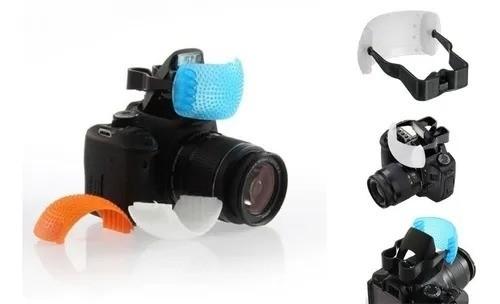 Difusor e modificador de cor para flash pop-up - kit 3 em 1