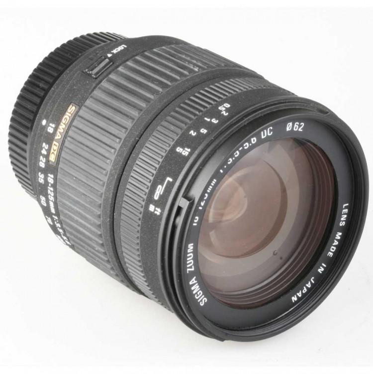 Objetiva Sigma DC 18-125mm f3.5-5.6 para Nikon - USADA