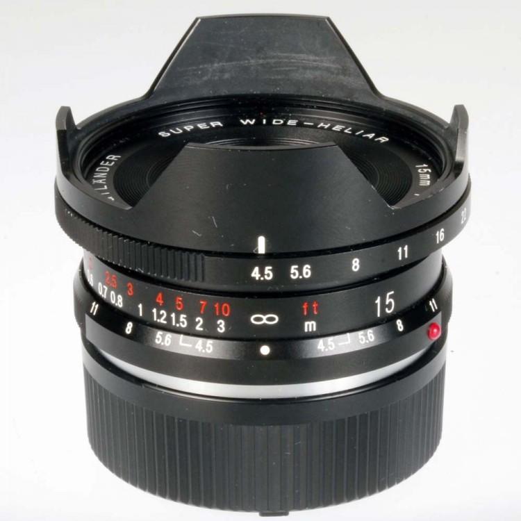 Objetiva Voightländer Super Wide-Heliar 15mm f4.5 Aspherical (versão II) para Leica M - USADA