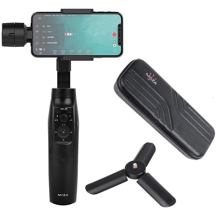 Estabilizador gimbal motorizado com giroscópio de 3 eixos Moza Mini-MI para smartphones