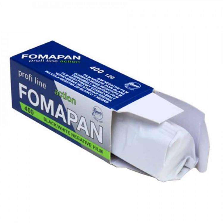 Filme fotográfico 120 Fomapan Action ISO 400 Preto e Branco