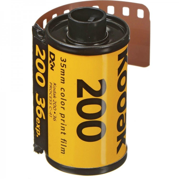 Filme fotográfico 35mm Kodak Gold ISO 200 Colorido 36 poses