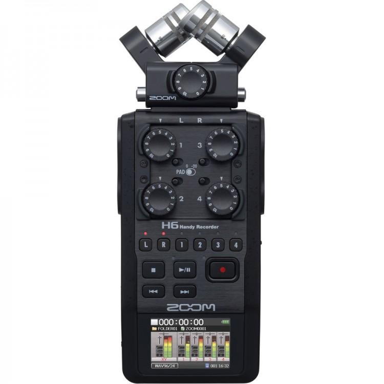 Gravador digital de áudio Zoom H6 All Black
