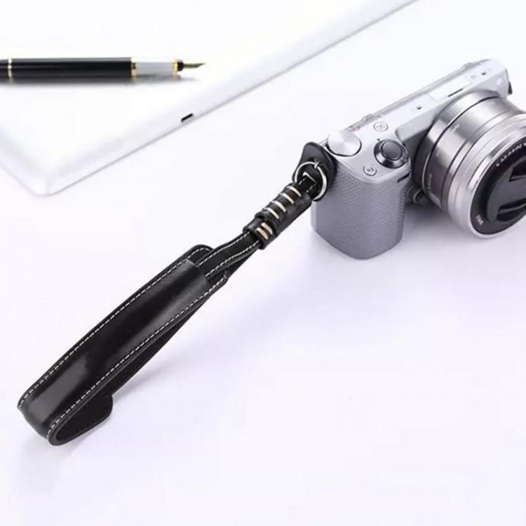 Alça de pulso em poliuretano para câmeras (PRETO)