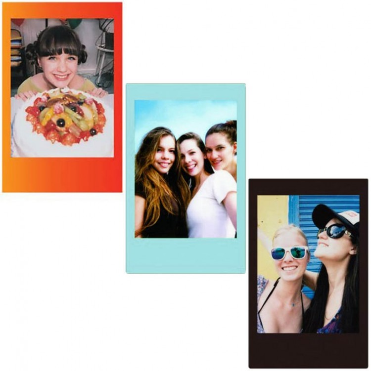 Filme Instantâneo Fujifilm Instax mini KIT COLORS (Rainbow, Black e Sky Blue) 30 fotos