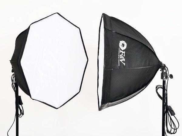 Kit de Iluminação contínua Greika AGATA III com 2 lâmpadas (220V)