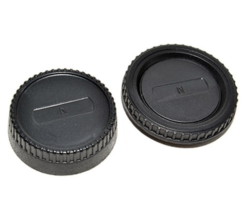 Kit com tampa traseira + tampa do corpo JJC L-R2 para Nikon