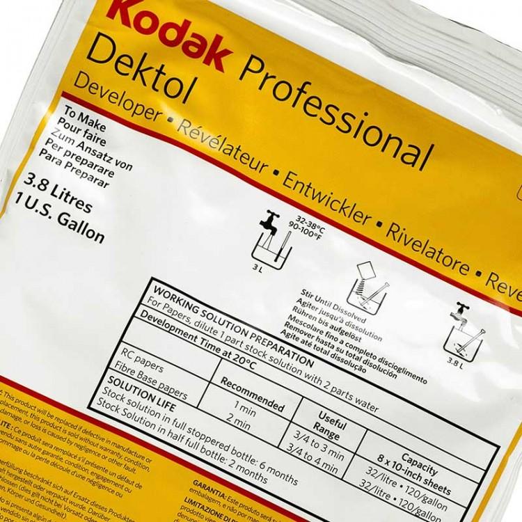 Revelador em pó Kodak Dektol para papel fotográfico preto e branco - 551g (rende 3,8 litros)