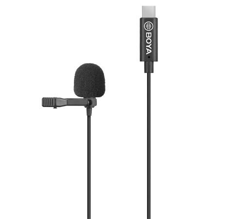 Microfone de lapela Boya BY-M3 para dispositivos USB-C