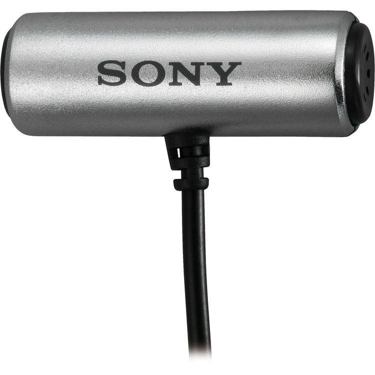 Microfone de lapela Sony ECM-CS3 para gravadores de áudio e câmeras
