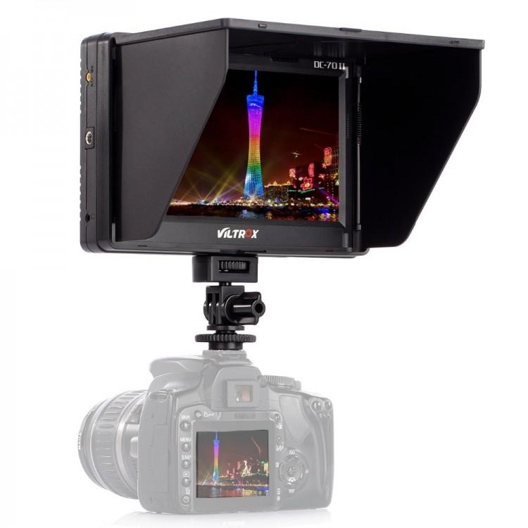 Tela LCD de monitoramento Viltrox DC-70 II 7 polegadas HDMI para câmera de vídeo e DSLR