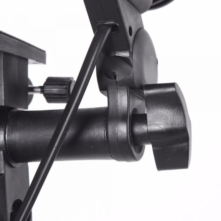 Soquete duplo Greika YL-104 para lâmpada E27 com suporte para sombrinha (bivolt)