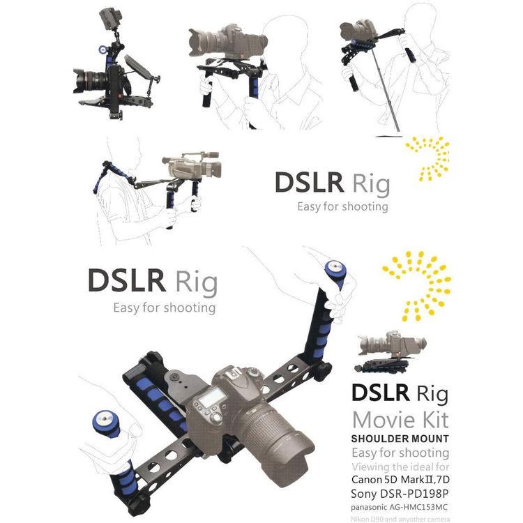 Estabilizador de ombro Spider Rig SP2 para câmera DSLR