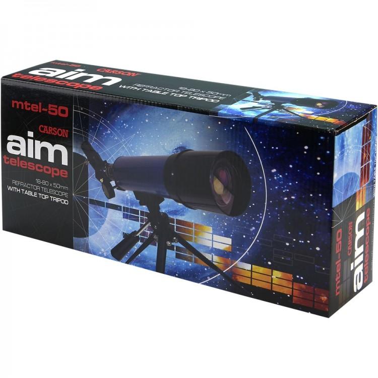 Telescópio Carson AIM MTEL-50 com ampliação de até 78x