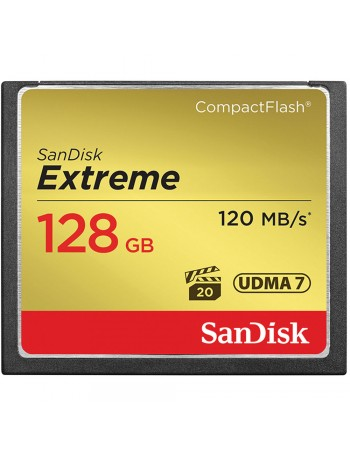 Cartão Compact Flash Sandisk Extreme 128GB - 120MB/s