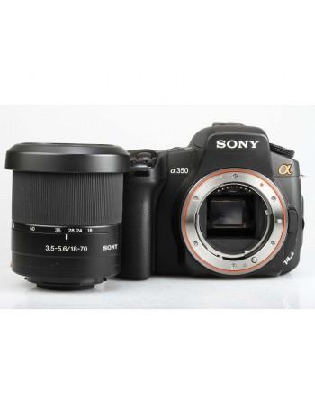 Câmera DSLR Sony alpha a350 com lente 18-70mm - USADA