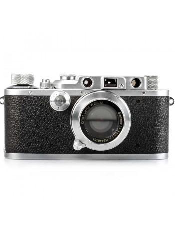 Câmera analógica 35mm Leica III com lente Summar 50mm f2 - USADA