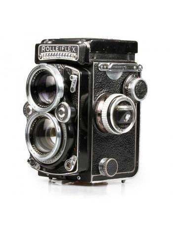 Câmera analógica TLR Rolleiflex 2.8E Planar 80mm f2.8 - USADA