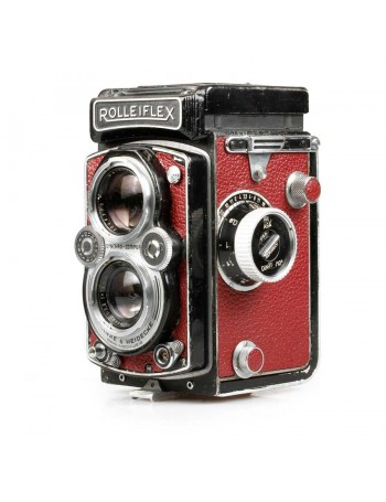Câmera analógica TLR Rolleiflex 3.5B Tessar 75mm f3.5 - USADA
