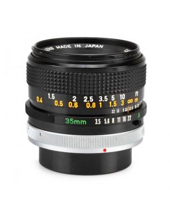 Objetiva Canon FD 35mm f3.5 SC - USADA