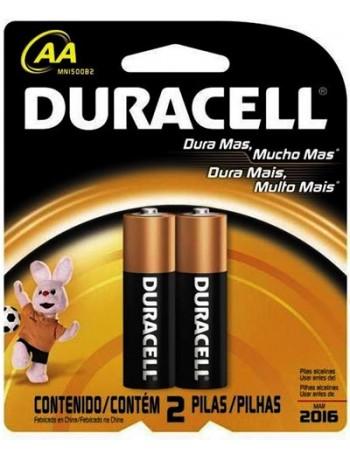Pilha alcalina Duracell AA - cartela com 2 unidades