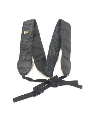 Alça de pescoço em algodão para câmeras DSLR (PRETO)