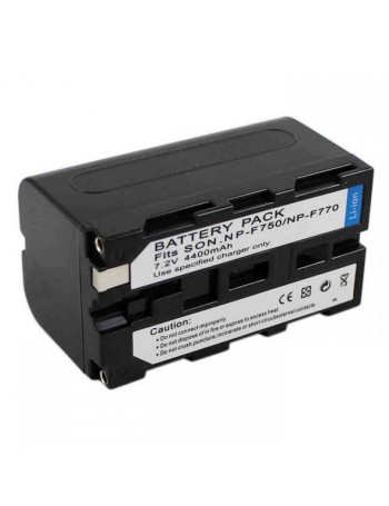 Bateria recarregável Greika NP-F750 4400mAh para iluminadores de LED e filmadoras Sony