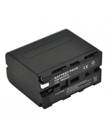 Bateria recarregável Greika NP-F970 7800mAh para iluminadores de LED e filmadoras Sony