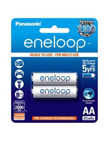 Pilha AA recarregável Panasonic Eneloop 2000mAh - Cartela com 2 unidades