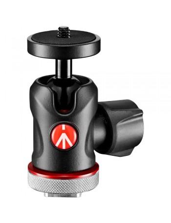 Mini cabeça de esfera Manfrotto MH492LCD-BH para fixação de tela LCD na sapata da câmera