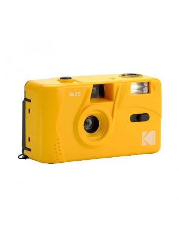 Câmera analógica compacta 35mm Kodak M35 com flash (AMARELO)
