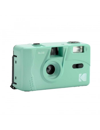 Câmera analógica compacta 35mm Kodak M35 com flash (VERDE MENTA)