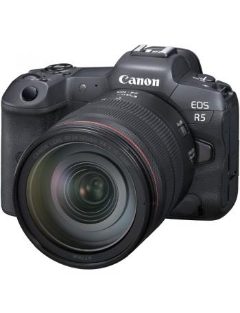 Câmera mirrorless Canon EOS R5 com lente RF 24-105mm f4 L IS USM