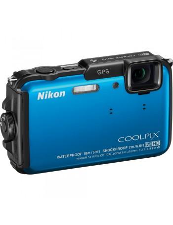 Câmera compacta a prova d'água Nikon Coolpix AW110 (AZUL)