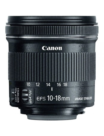 Objetiva Canon EF-S 10-18mm f4.5-5.6 IS STM