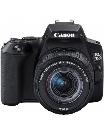 Câmera DSLR Canon EOS 250D com lente 18-55mm IS STM