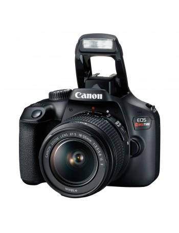 Câmera DSLR Canon EOS Rebel T100 com lente 18-55mm III