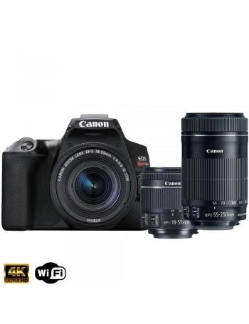 Câmera DSLR Canon EOS Rebel SL3 PREMIUM KIT com lente 18-55mm IS STM + lente 55-250mm IS STM