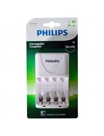 Carregador de pilhas Philips SCB2440NB para pilhas AA e AAA